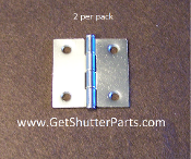 2 X 2 Nickel Satin / Brushed Nickel Plantation Shutter Hinge