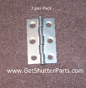 2 1/2 X 1 1/2 Nickel Satin / Brushed Nickel Plantation Shutter Hinge