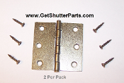 "Shutter Hinge (AB) 2 1/2"" X 2 1/2"" Antique Brass"